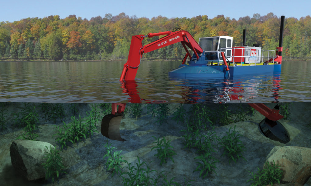 Mud Cat MFD 1000 Multifunction Dredger | Restoration Dredge